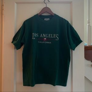 Vintage Los Angeles Souvenir Embroidered Top